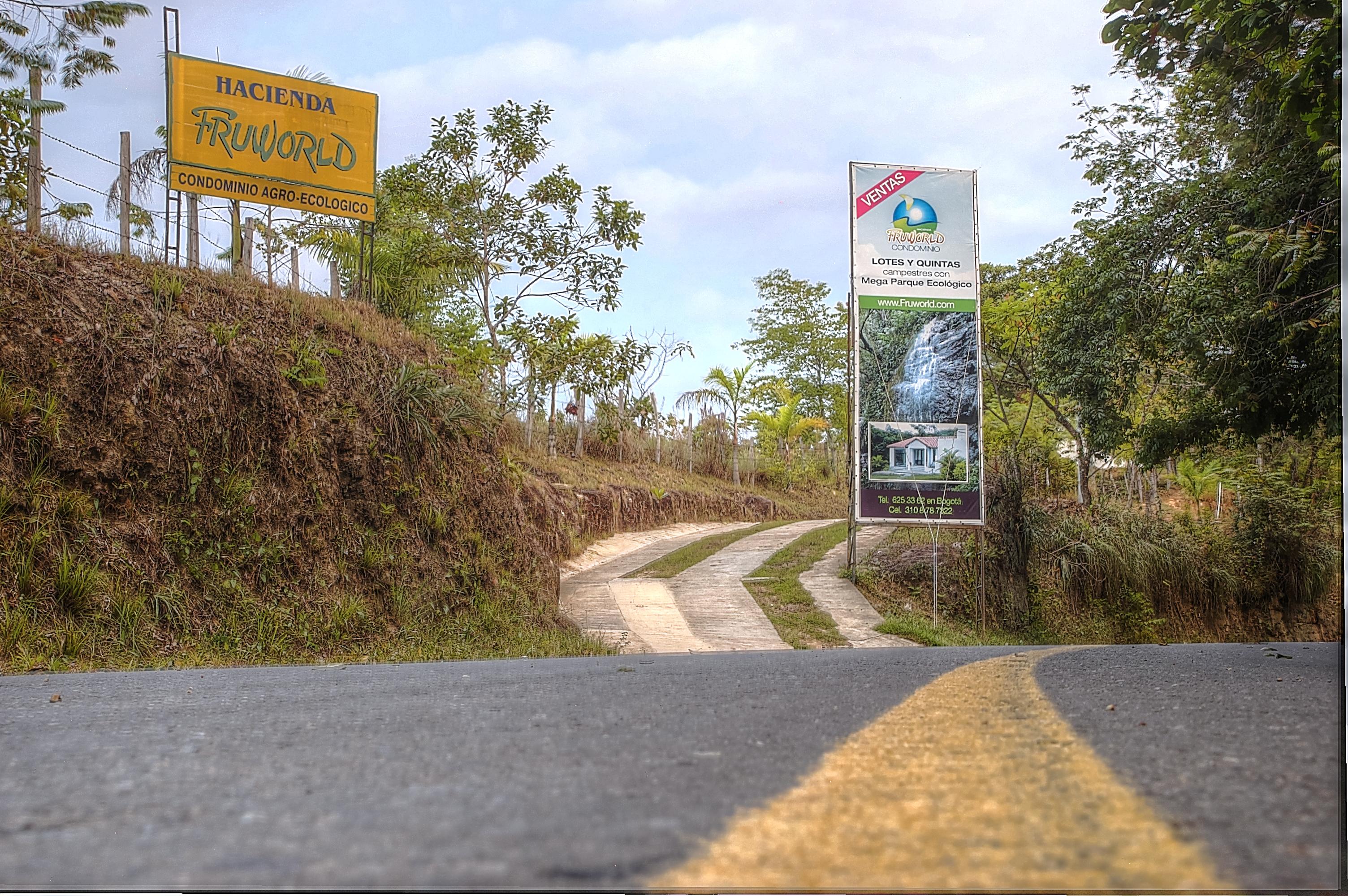 venta lotes y casas campestres colombia carmen de apicala fruworld via entrada condominio